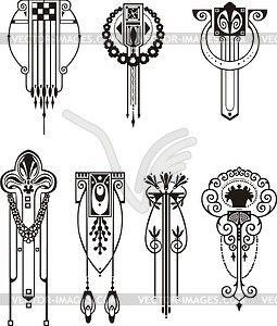 Art nouveau patterns - vector clip art