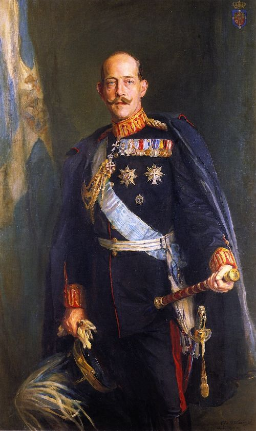 King Constantine I of the Hellenes Painting by Philip Alexius de Laszlo | Oil Painting