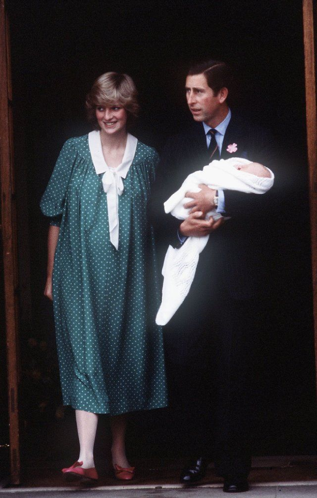 Prince Charles, Princess Diana and Prince William Windsor