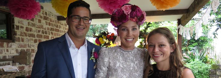Luke and Anna's gorgeous wedding at Harvest Cafe Newrybar. Anna rocked a stunning floral crown and a veil.
