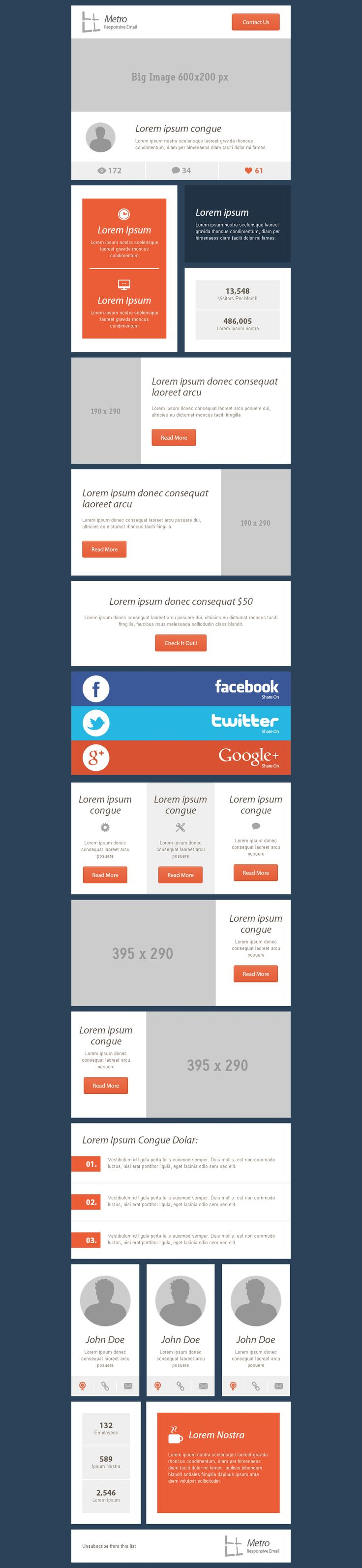 Top 5 Email Template Design Ideas