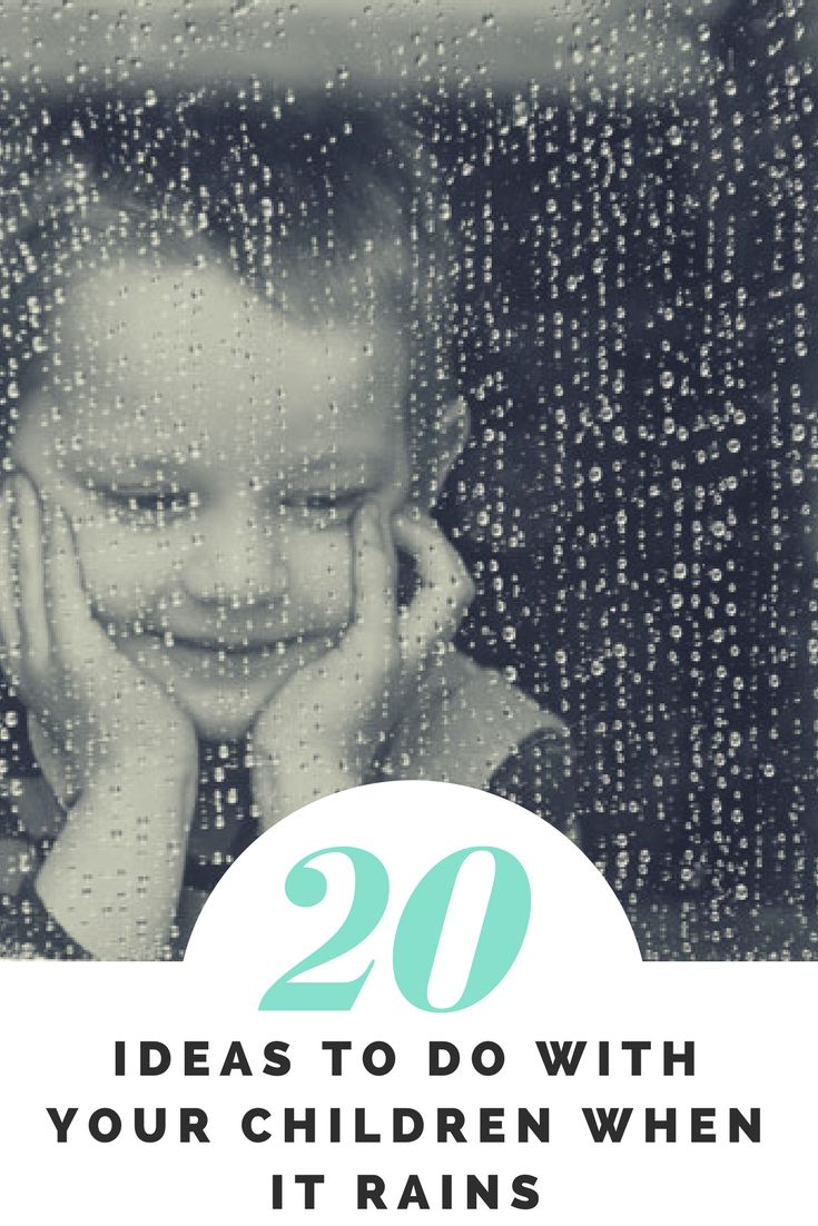 Come and take a look at my 20 ideas to do with children when it rains. Great rainy day ideas here!