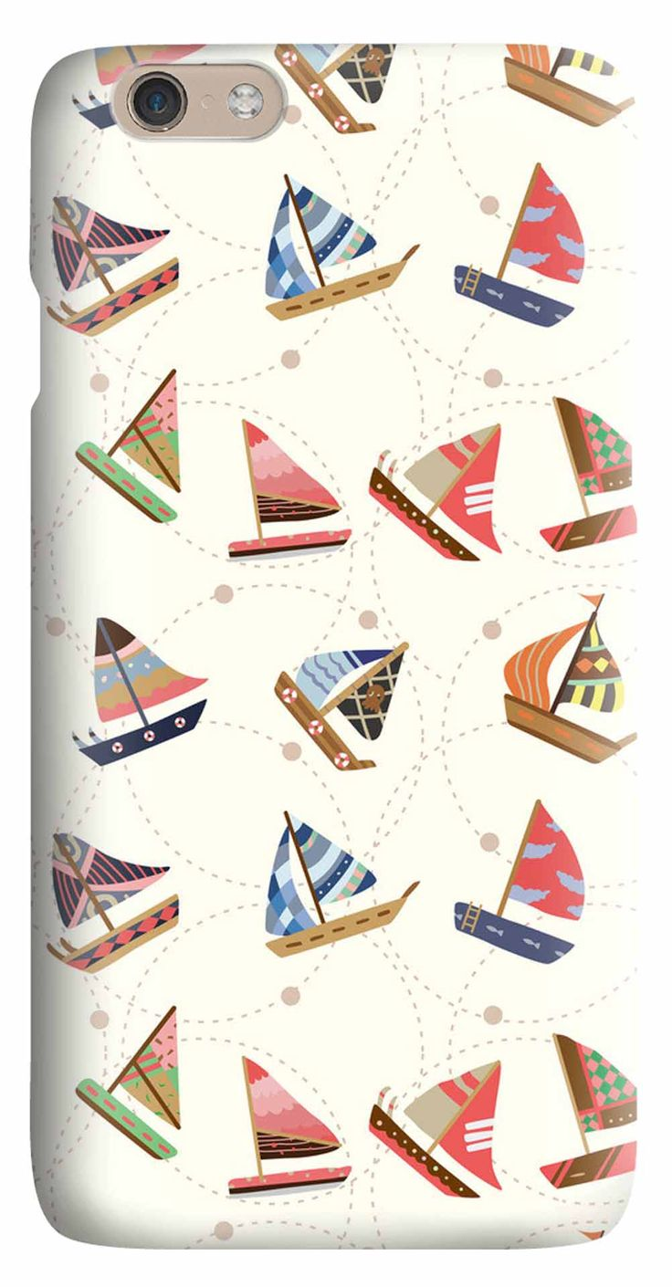 Whatskin DIY Style Diversed Sail Boats Hard Back Cover for iphone 6