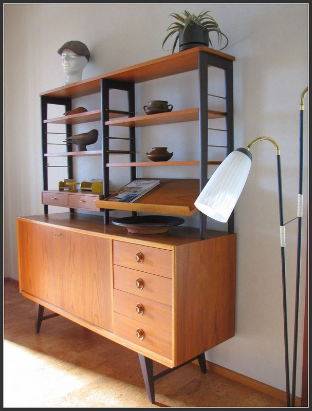 Modern bookcase from Sweden, produced in the 50s. Manufacturer AJFA - Tibro.