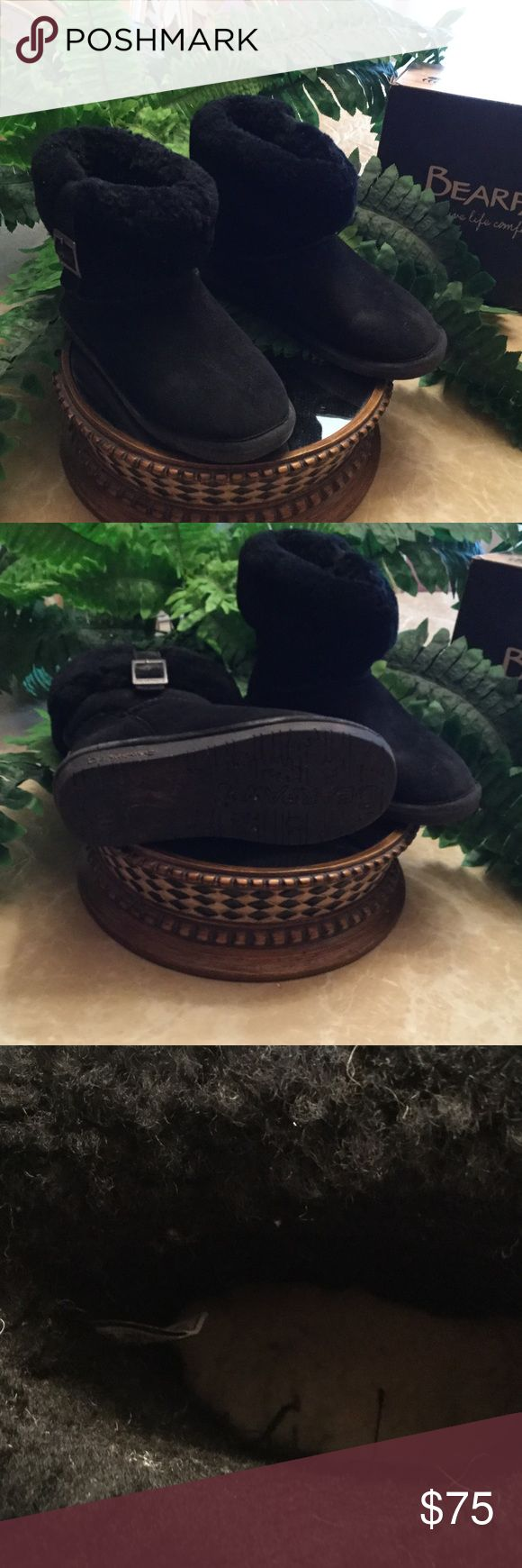 Bear paw black winter boots very good condition. Size 6 bear paw boots worn a few times only for dress. Very good condition, leather Shoes Ankle Boots & Booties