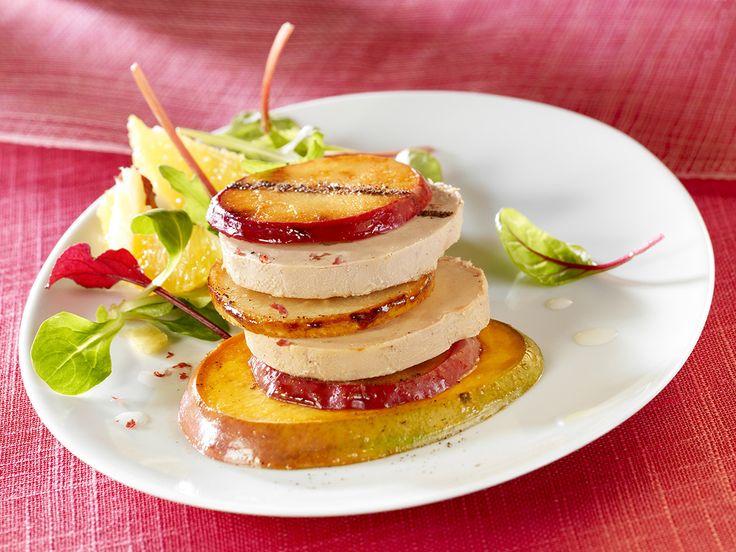 Foie Gras mi-cuit en mille feuille de fruits | Montfort