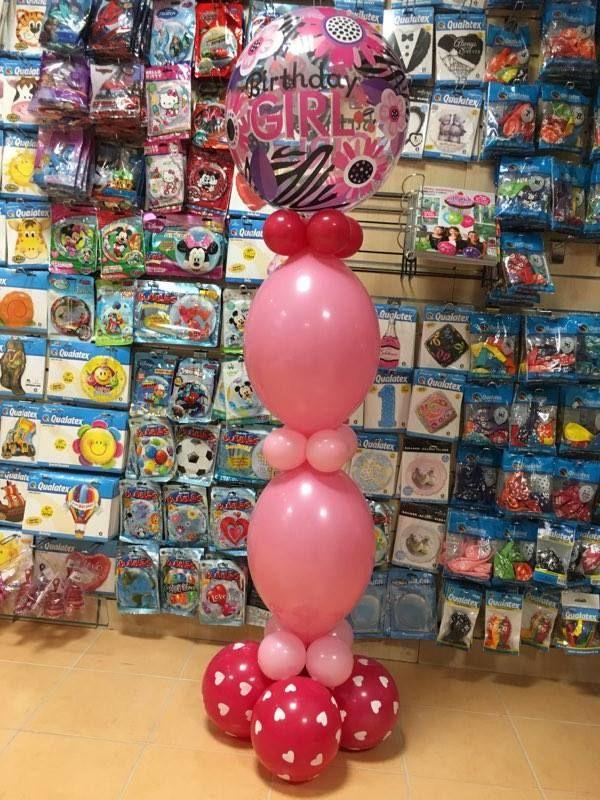 Birthday Girl feliratos szülinapi padló dísz lufiból.  #lufi #birthdaygirl #qualatex