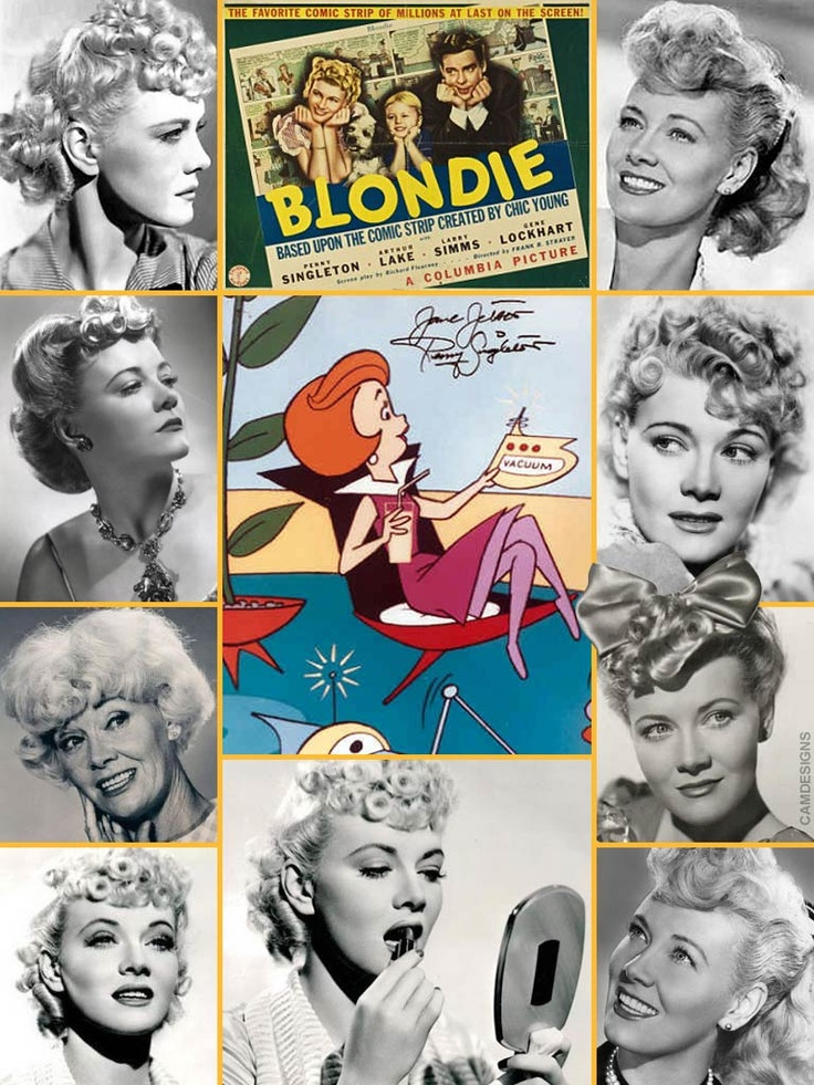 Penny Singleton (born Marianna Dorothy Agnes Letitia McNulty, Sept. 15, 1908 – Nov. 12, 2003) was an American film actress. During her sixty year career Singleton appeared as the comic strip heroine Blondie Bumstead in a series of 28 motion pictures from 1938 until 1950 & the popular Blondie radio program from 1939 until 1950. Singleton also provided the voice of Jane Jetson in the animated series The Jetsons. She was active in union affairs and was the first woman president of an AFL–CIO…
