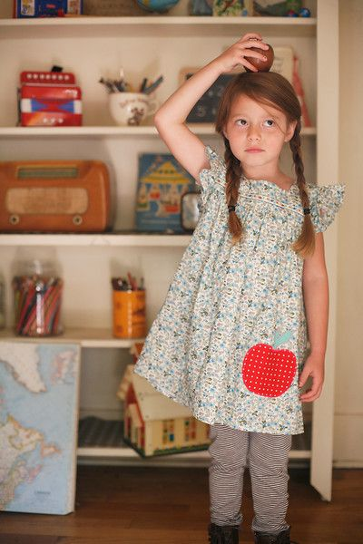 Fall 2012: Misha Lulu Apple Dress - Perfect for back to school or apple picking!