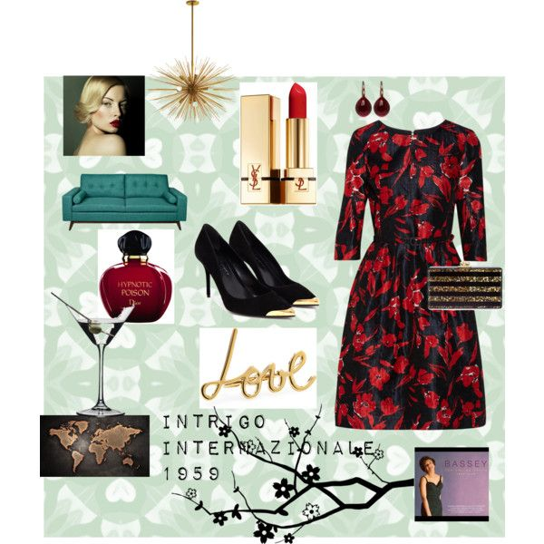 """Intrigo internazionale, Hitchcock"" by violaseta on Polyvore"