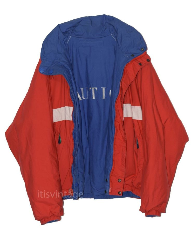 Duck Feather Down Reversible 90's Vintage Nautica XL Hide Away Hood Jacket Coat | Clothing, Shoes & Accessories, Men's Clothing, Coats & Jackets | eBay!