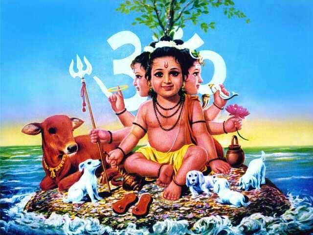 Best Dattatreya Images Hindu Art Hinduism Art Lord Ganesha Paintings