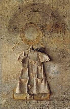 Very moving: Anselm Kiefer, Shebirat Ha Kelim, 1990, plumb, glas, dress, ash and woman's hair on wood, 380 x 250 x 35 cm, © Anselm Kiefer, 2011, Courtesy Stiftung für Kunst und Kultur e.V.