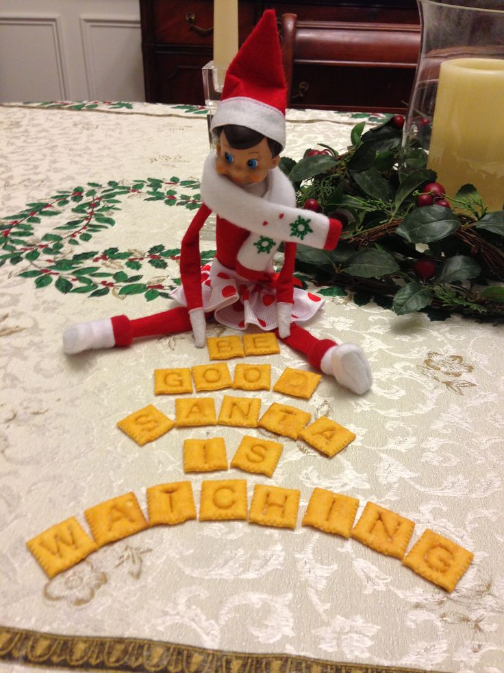 Elf on the Shelf...thank you Cheeze it