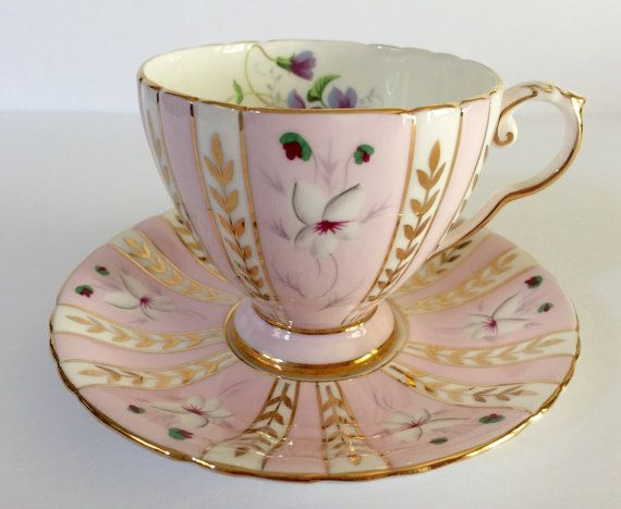 Beautiful Pink Royal Grafton Tea cup and Saucer