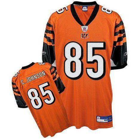 CINCINNATI BENGALS Chad Johnson #85 Reebok NFL Authentic Jersey Orange/Black /White