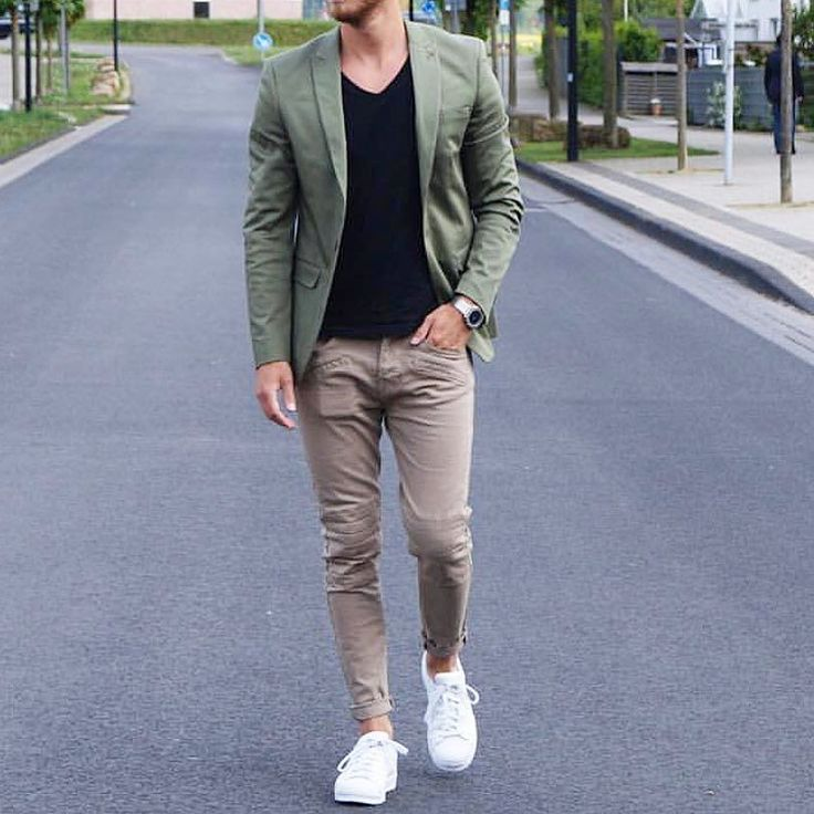Green blazer khali pants and white sneakers by @berndhower  [ http://ift.tt/1f8LY65 ]
