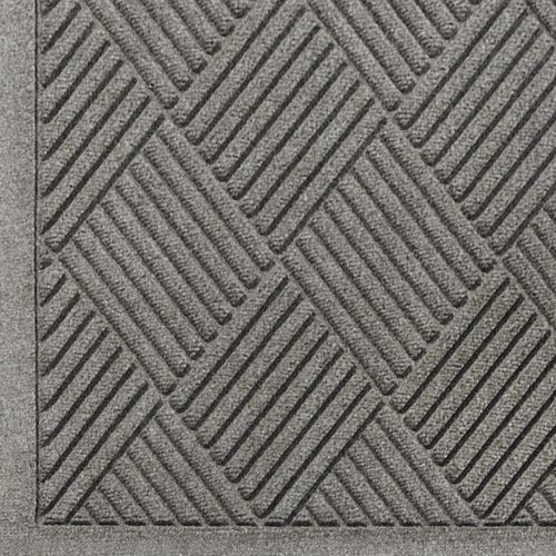 """Andersen 221 Medium Grey Polypropylene WaterHog Fashion Diamond Entrance Mat, 4' Length x 3' Width, For Indoor/Outdoor by Andersen. $65.21. No other mat in the industry traps water and dirt so effectively. WaterHog mats are constructed of rubber reinforced face nubs and the """"diamond"""" design provides crush proof scraping action. The border for WaterHog Fashion features the same 100 percent polypropylene fiber system as the mat surface. Premium 24 oz/sq anti-static Polypropylene f..."""