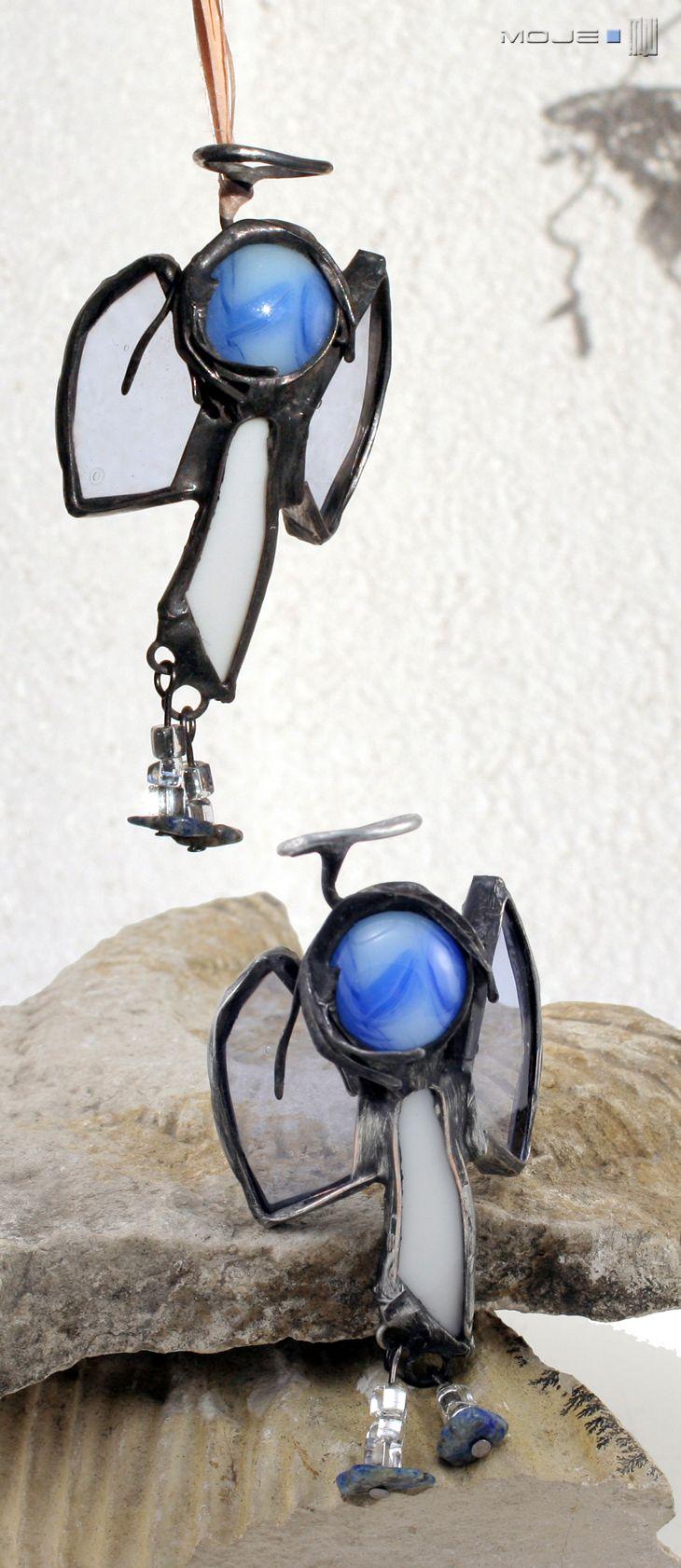 Anioł / Angel. Witraż Tiffany. Glass. Glass Angel Moje MW