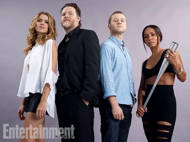 Erin Richards, Donal Logue, Ben McKenzie, and Jada Pinkett Smith, Gotham. See more stunning star portraits from our photo studio at San Diego Comic-Con 2014 here: http://www.ew.com/ew/gallery/0,,20399642_20837151,00.html
