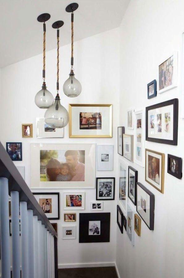 M s de 25 ideas incre bles sobre paredes de la escalera en for Como decorar una escalera