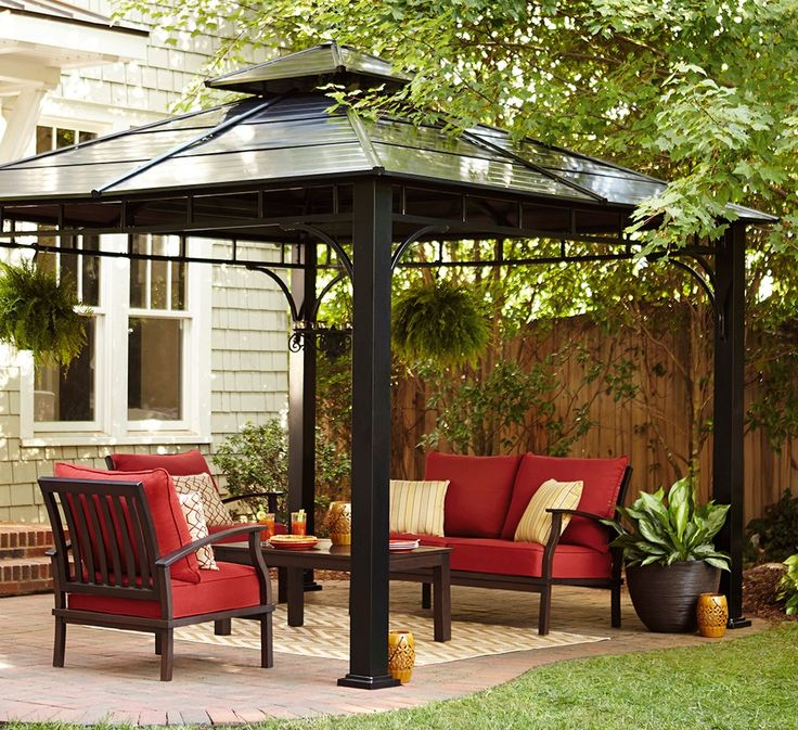 Enjoy Your Backyard Or Garden In The Shade Of A Beautiful Metal Pergola.  With The