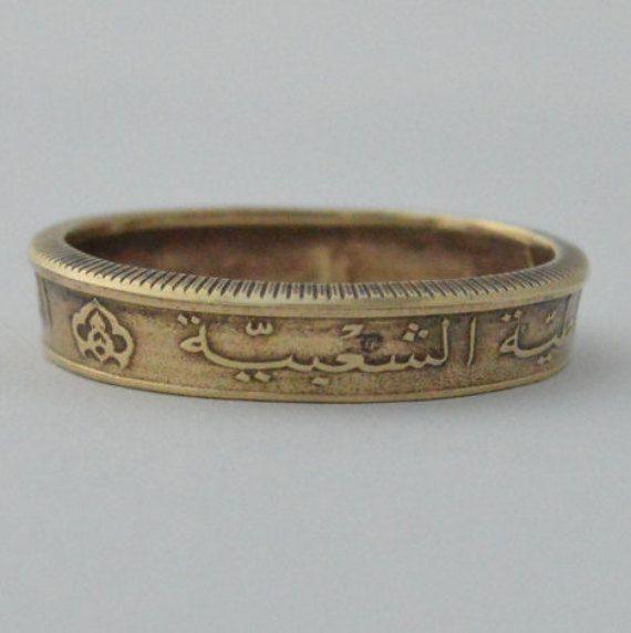 Coin Ring/ Münzring 50 Centimes (Algeria/Algerien) size(US) 10 1/2  / Größe(DE) 20,25  ; size/Größe(mm/inches): 63/ 2 5/8