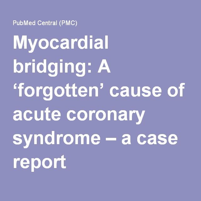 1000+ Ideas About Acute Coronary Syndrome On Pinterest