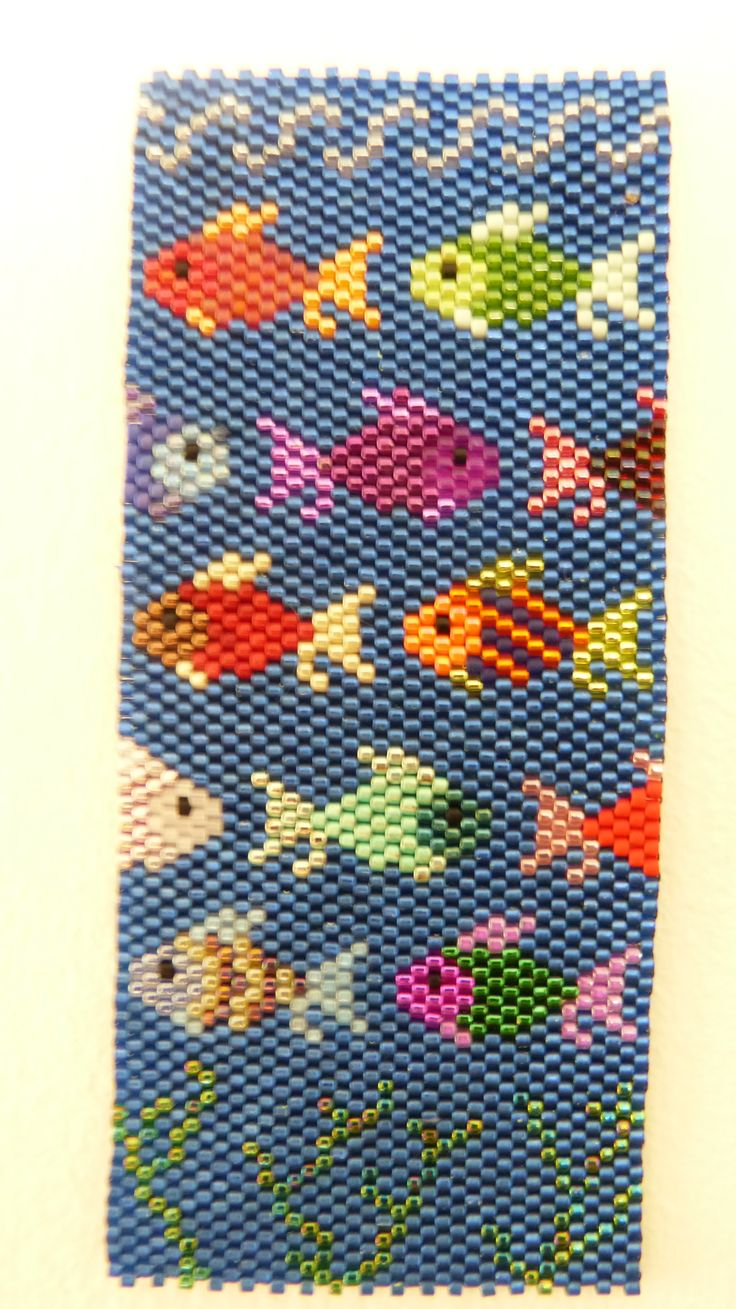 flat peyote my own effort from free pattern http://www.bead-patterns.com/shop/shop.php   -such obsessive fun.Which is your favourite fish?