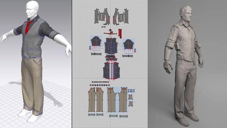 Vtc Game Design Character Development : Marvelous designer photoshop zbrush quixel suite game