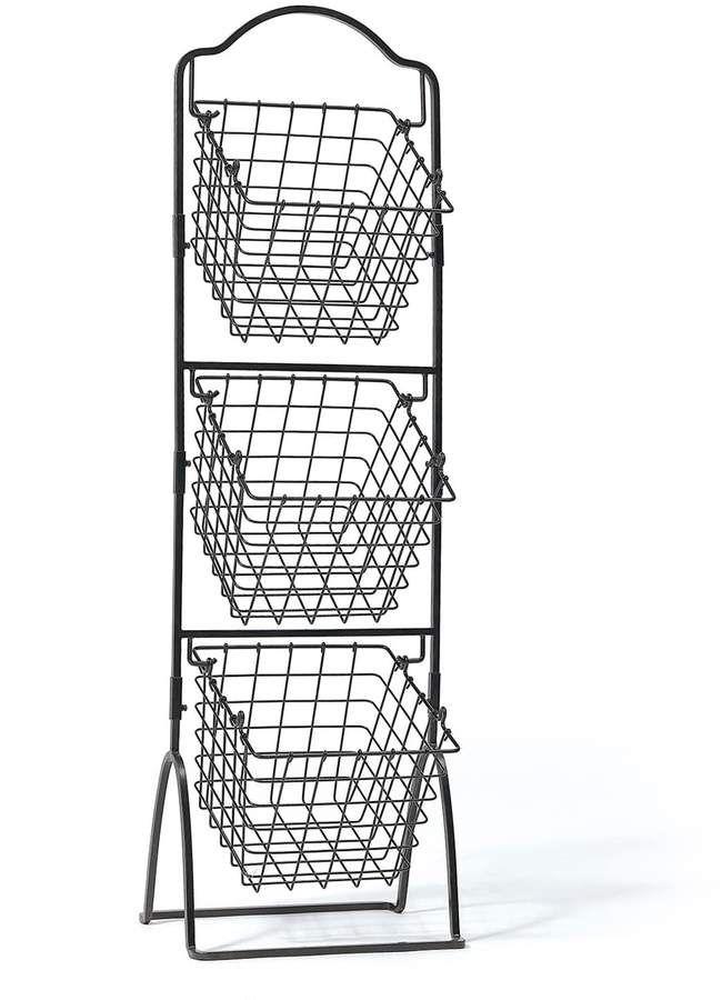 Gourmet Basics General Store 3 Tier Market Storage Basket Stand Play Food Storage Fruit Storage Market Baskets