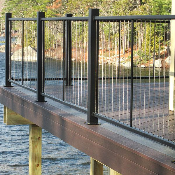 The Fortress Vertical Cable Railing System is easy to ...