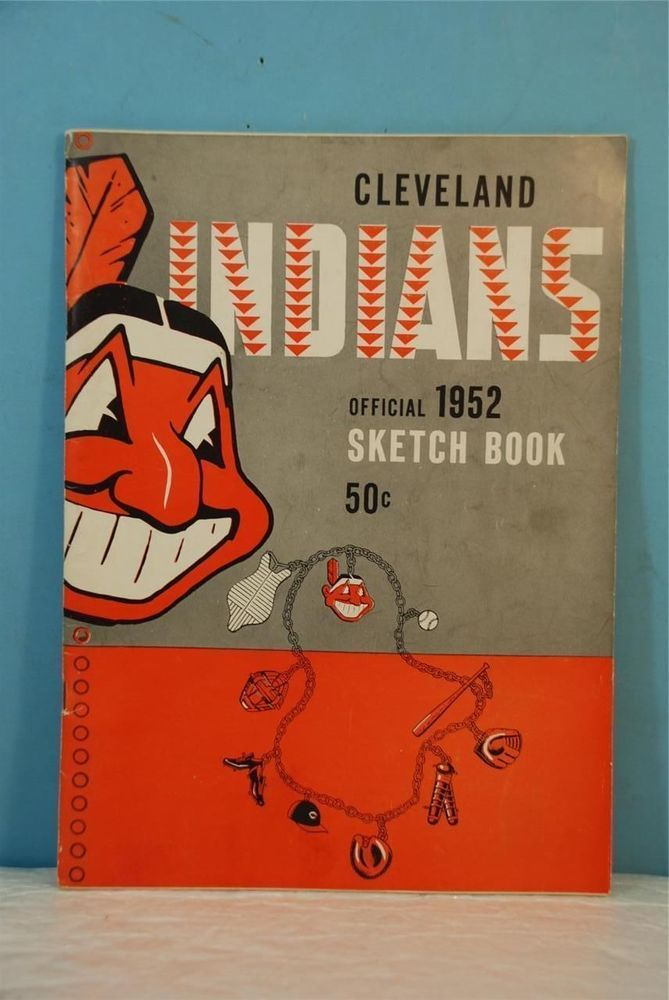 1952 cleveland indians official sketch book from $39.99