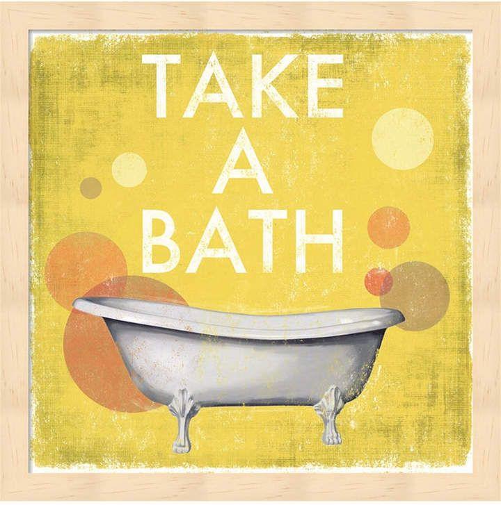 Take A Bath By Drako Fontaine Framed Art In 2020 Bathroom Canvas
