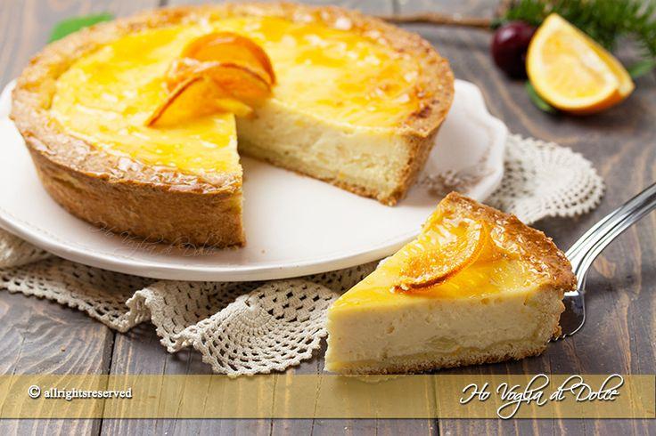 Crostata alla ricotta e arancia