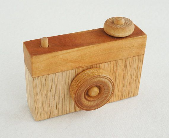 My good friend makes and sells these AND Jackson totally needs one! Wooden Toy Camera with Moveable Parts by NaptimeDIY on Etsy, $22.00