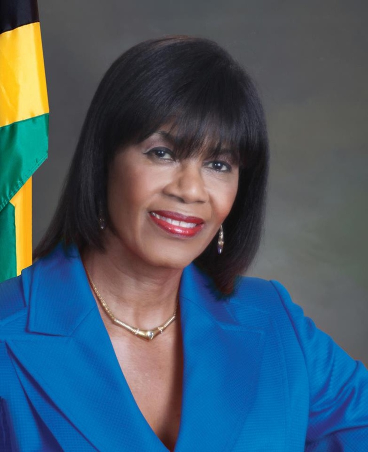Nice pic of Jamaica's Prime Minister Portia Simpson-Miller
