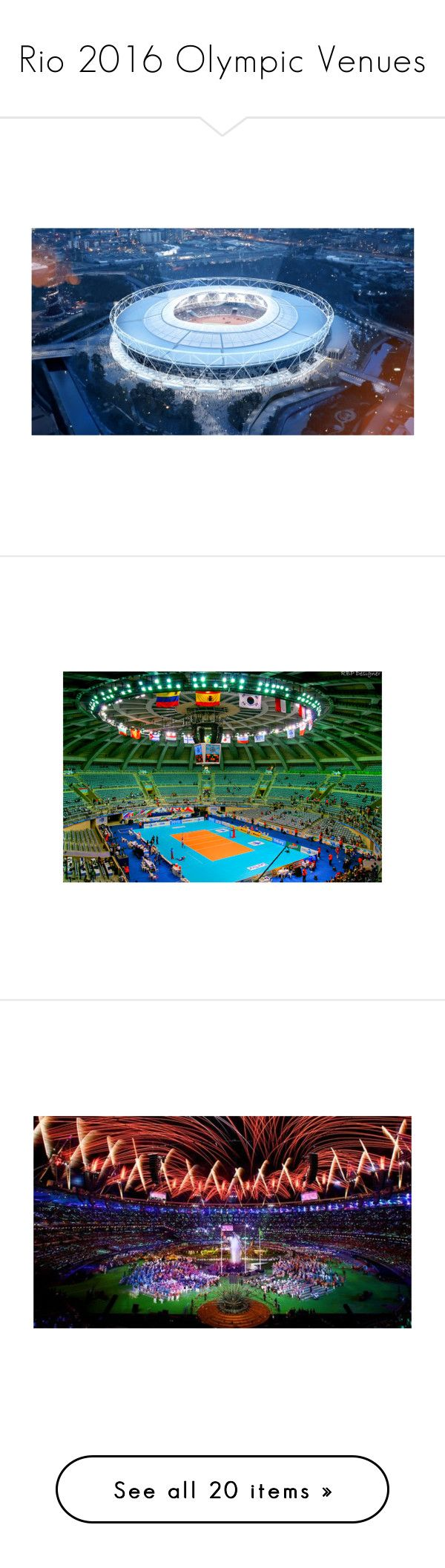 """""""Rio 2016 Olympic Venues"""" by gymholic ❤ liked on Polyvore"""