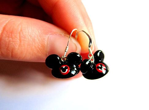 Disney Inspired Mickey Mouse Club Mouseketeer Hat Earrings Disney Jewelry on Etsy, $16.00