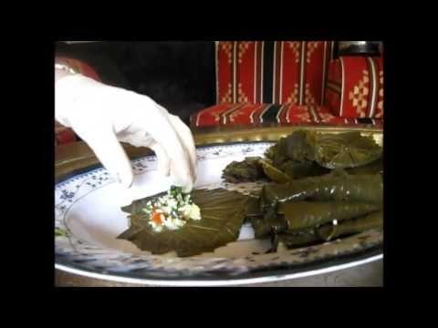ЯЛАНДЖИ,Виноградные листья с рисом и зеленью  Арабская кухня
