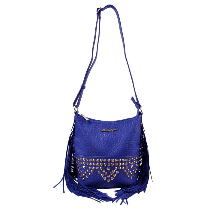 Bolsa Miss Unique com spikes e franjas laterais - OUTLETCLUBE