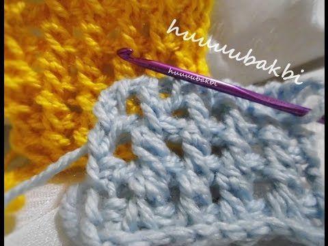 tunisian crochet,tunus işi örnek,Tunisian Stitch