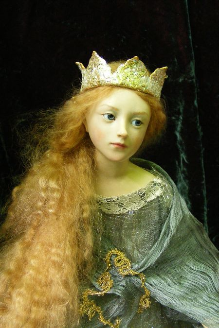 Anna Brahms is an artist that has combined her life's art lessons and journey and transforms dolls into fantastic installations