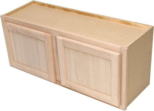 "Quality One 30"" x 15"" Unfinished Oak Over-an-Appliance ..."