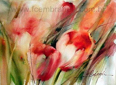 Fábio Cembranelli - A Painter's Diary: Tulips-Watercolor / Tulipas-Aquarela