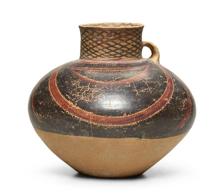 A Neolithic painted pottery jar, Banshan, Gansu Yangzhou, Mid-2nd Millenium BC