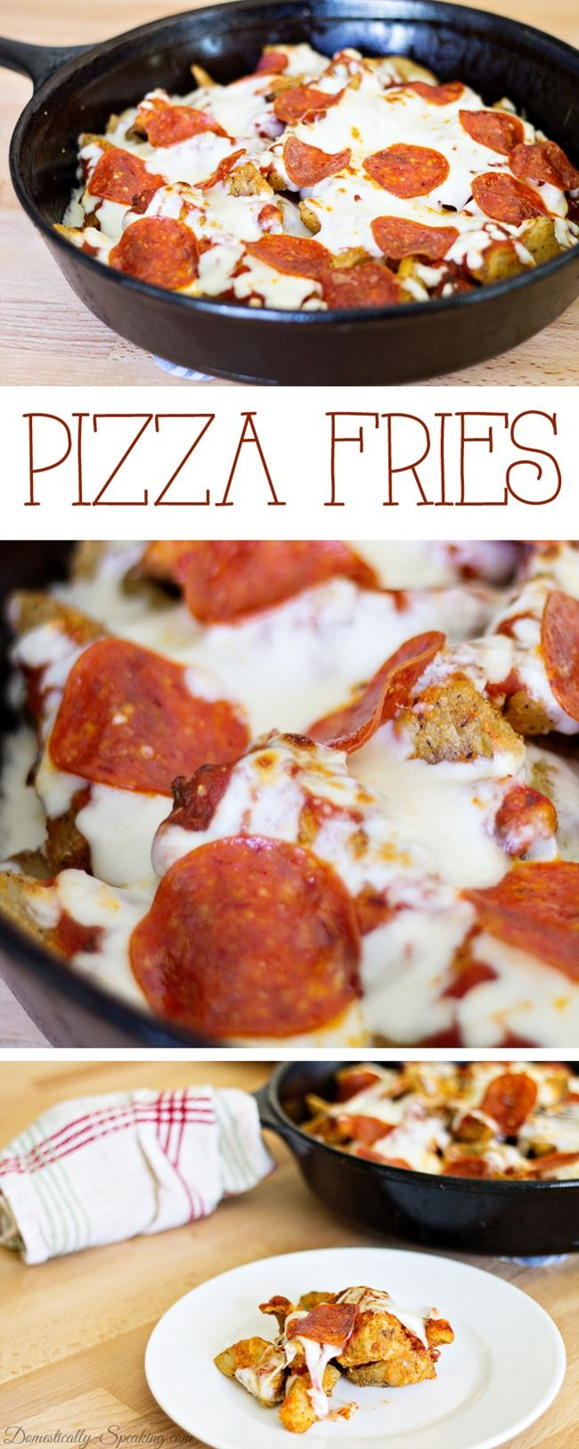 Pizza Fries - perfect football food!
