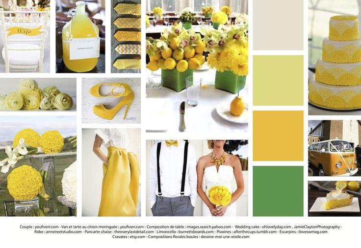 ambiance-mariage-parfaire-Jaune-jaune-vert