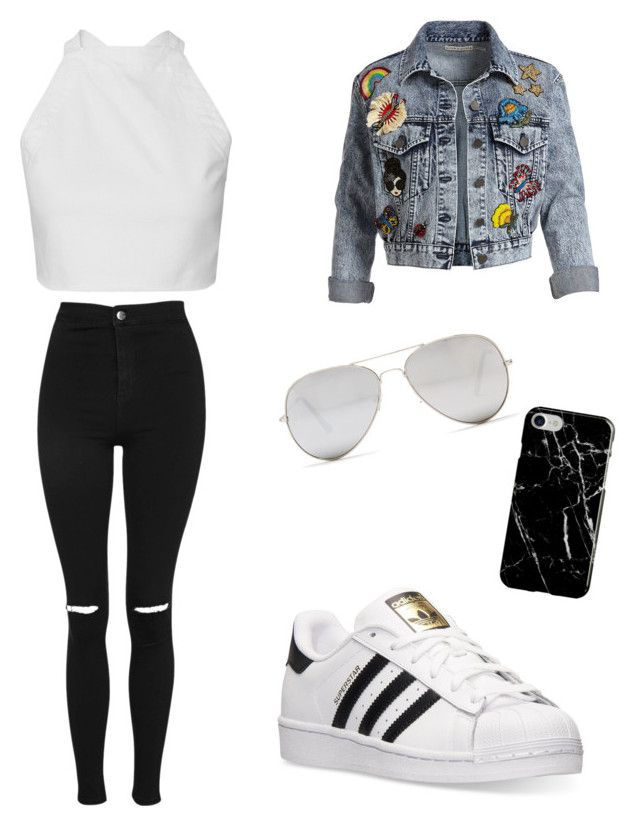 ✅ by hadzic on Polyvore featuring polyvore fashion style Alice + Olivia Topshop adidas Recover Sunny Rebel clothing