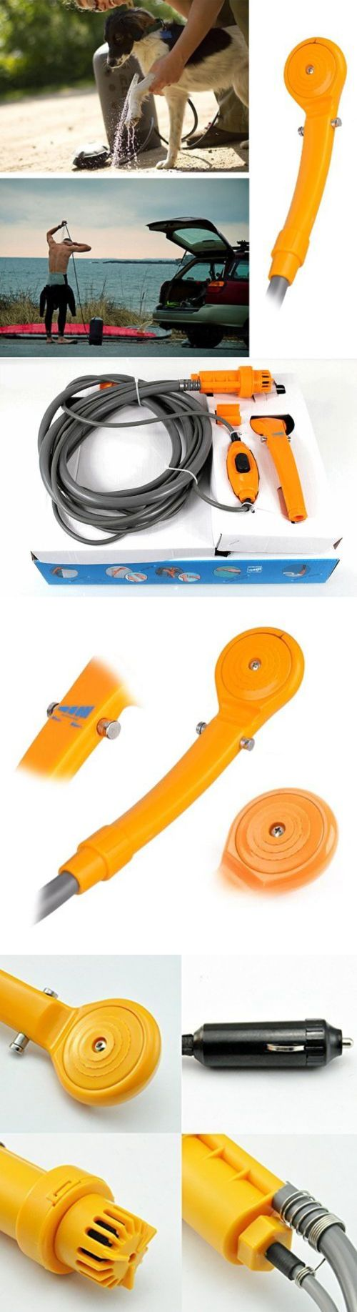 Portable Showers and Accessories 181396: Outdoor 12V Portable Pressure Washer Travel Automobile Shower Set -> BUY IT NOW ONLY: $33.11 on eBay!